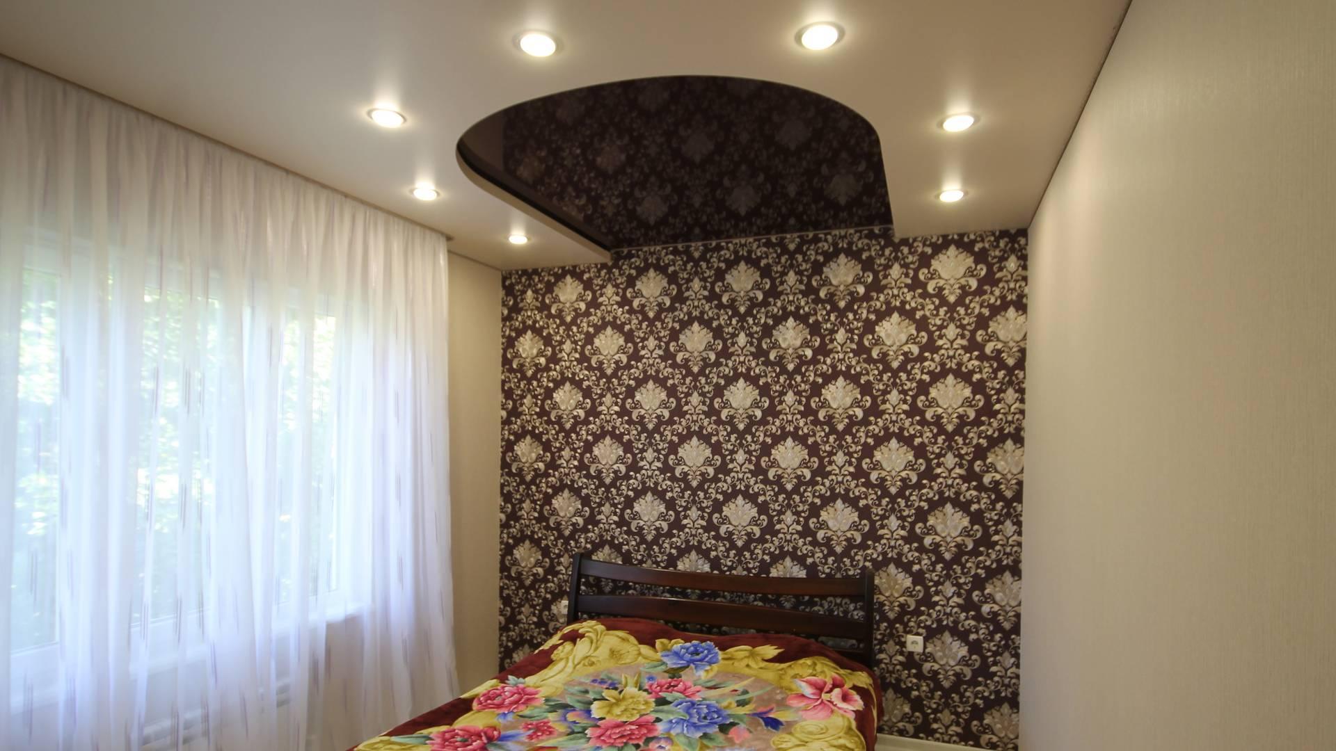 Двухуровневые натяжные потолки, Натяжной потолок в спальню, Глянцевые натяжные потолки, Матовые натяжные потолки