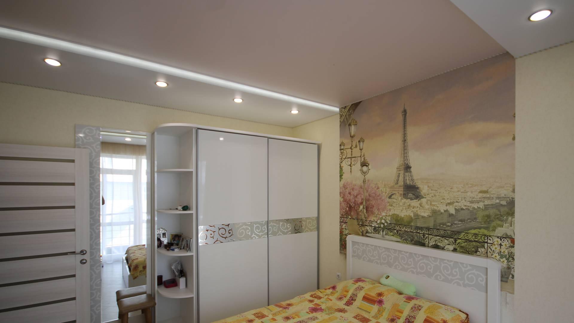 Матовые натяжные потолки, Натяжные потолки с подсветкой, Двухуровневые натяжные потолки