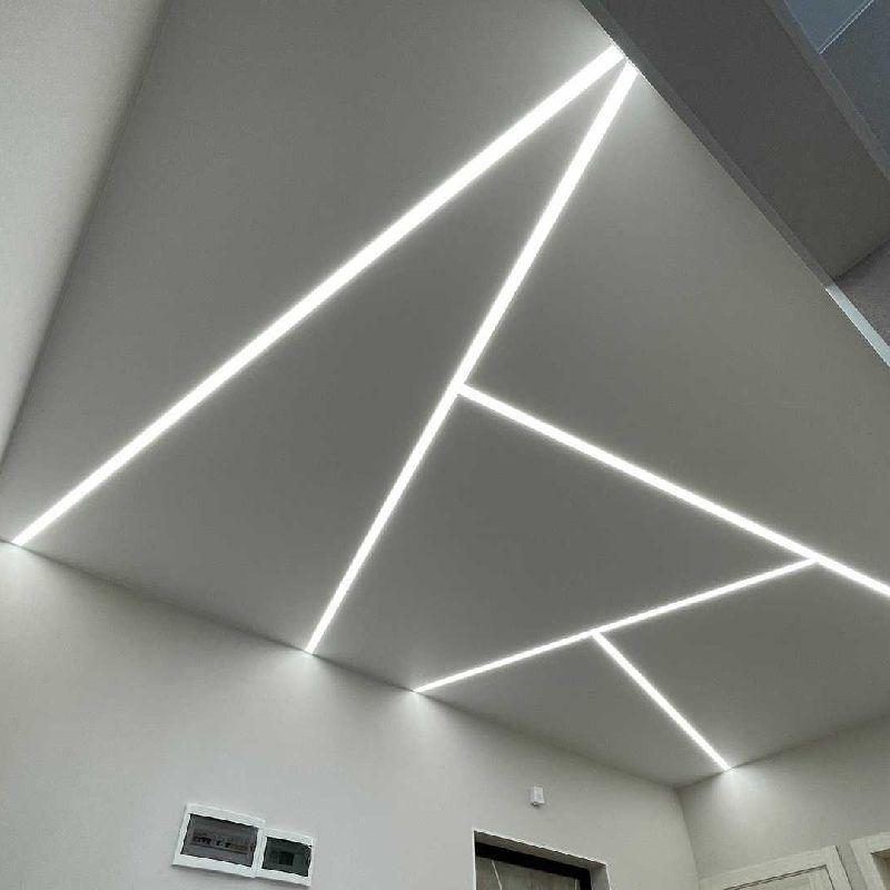 Натяжной потолок со световыми линиями Flexy