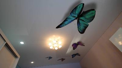 3д фото печать на натяжном потолке