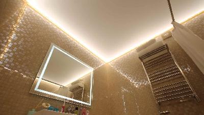 Светованна, световая ванна, натяжной потолок