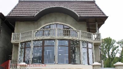 Окна в частный дом, Витражное остекление