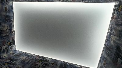 Световой потолок над рабочей зоной.